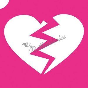 Szív 04 csillámtetoválás sablon