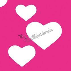 Szív 09 csillámtetoválás sablon