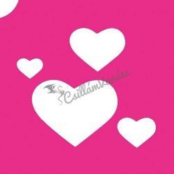 Szív 11 csillámtetoválás sablon