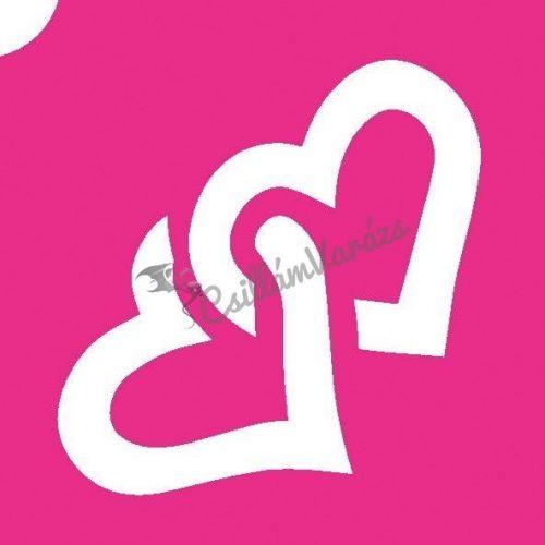 Szív 12 csillámtetoválás sablon