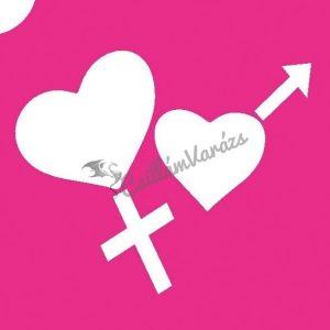 Szív 13 csillámtetoválás sablon