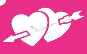 Szív 18 csillámtetoválás sablon