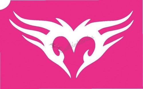 Szív 21 csillámtetoválás sablon