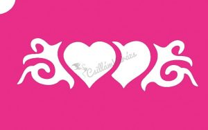 Szív 23 csillámtetoválás sablon