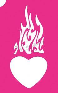 Szív 24 csillámtetoválás sablon