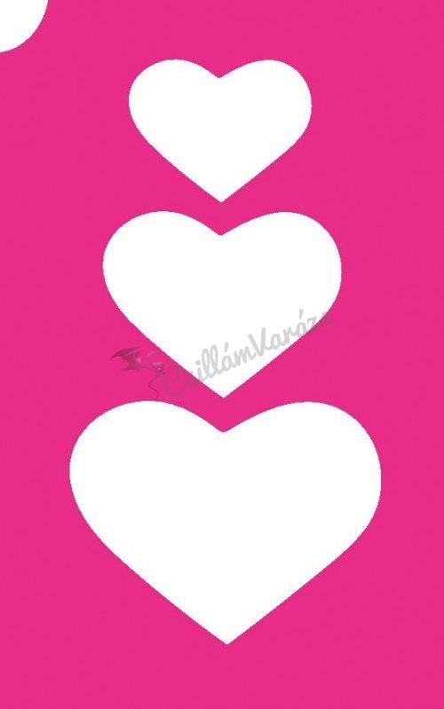 Szív 25 csillámtetoválás sablon