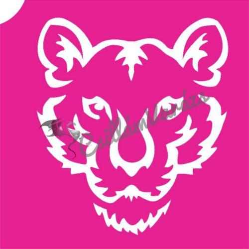 Tigris 03 csillámtetoválás sablon