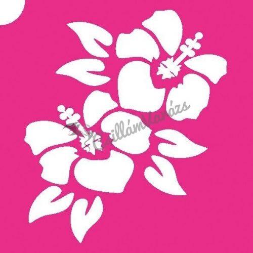 Virág 06 csillámtetoválás sablon