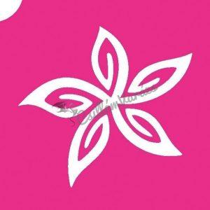 Virág 08 csillámtetoválás sablon