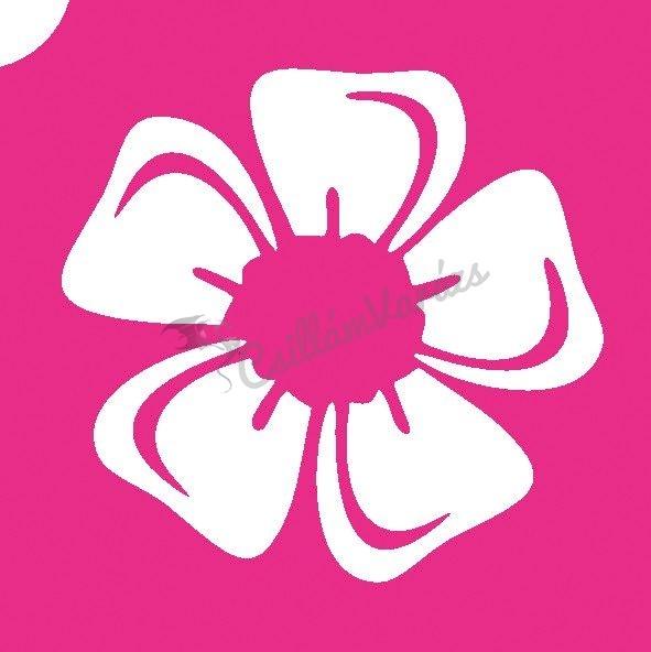 Virág 15 csillámtetoválás sablon