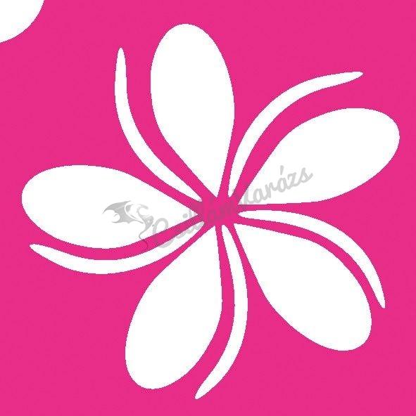 Virág 18 csillámtetoválás sablon