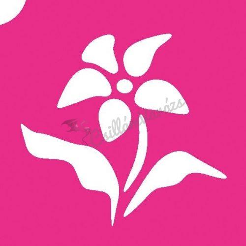 Virág 24 csillámtetoválás sablon