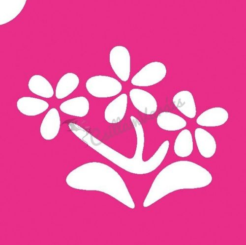 Virág 30 csillámtetoválás sablon