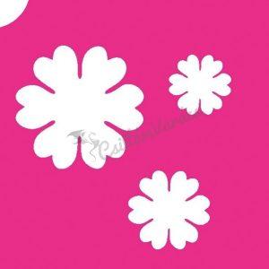 Virág 32 csillámtetoválás sablon