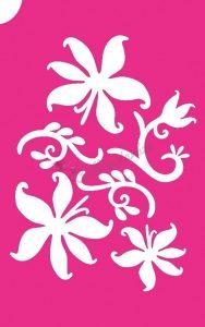 Virág 39 csillámtetoválás sablon