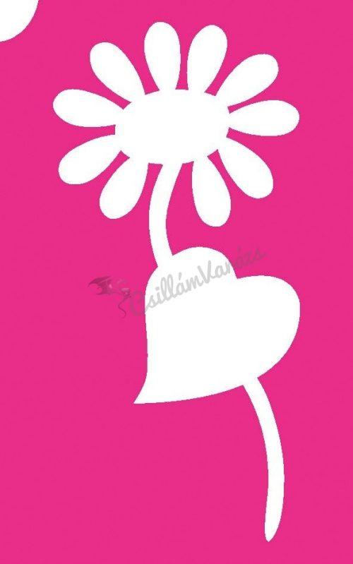 Virág 43 csillámtetoválás sablon
