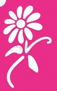 Virág 44 csillámtetoválás sablon