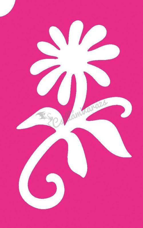 Virág 45 csillámtetoválás sablon