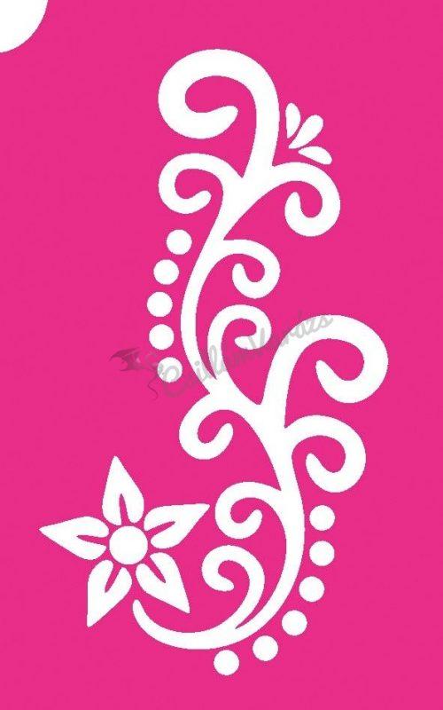 Virág 49 csillámtetoválás sablon