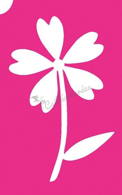 Virág 54 csillámtetoválás sablon
