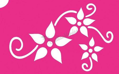 Virág 58 csillámtetoválás sablon