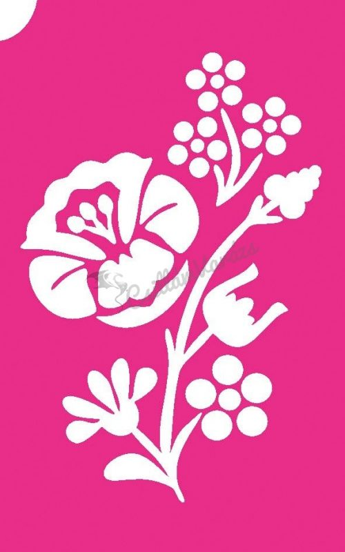 Virág 59 csillámtetoválás sablon