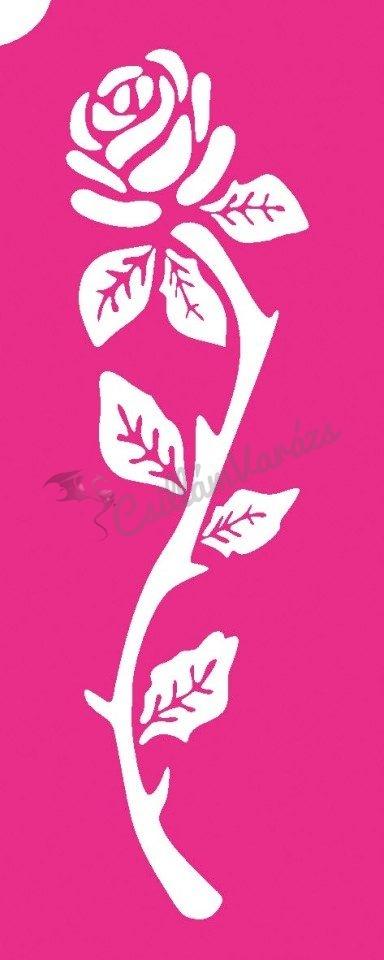 Virág 66 csillámtetoválás sablon