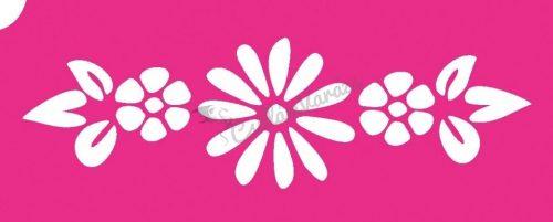 Virág 68 csillámtetoválás sablon